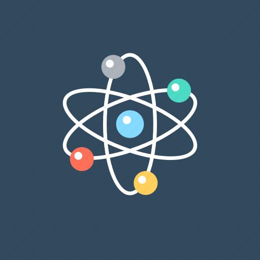 atom, electron, molecular structure, physics, science icon