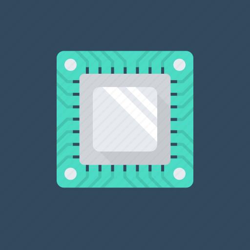 cpu chip, electronic, hardware, microprocessor, processor chip icon