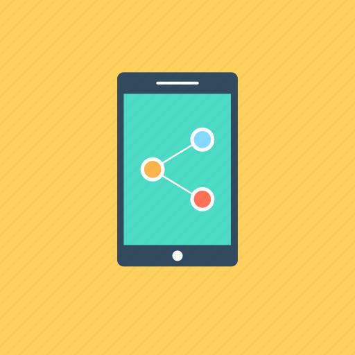 data exchange, data transfer, mobile sharing, social network, wireless sharing icon