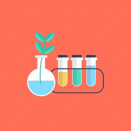 biology, botany, chemistry apparatus, chemistry laboratory, plant research icon