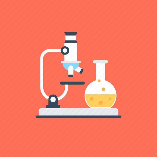 chemistry practicals, lab experiment, lab research, lab testing, observation and analysis icon