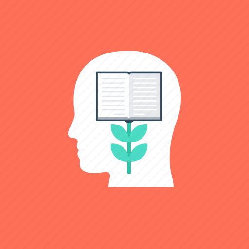 acquiring knowledge, brain growth, inner development, knowledge development, knowledge growth icon
