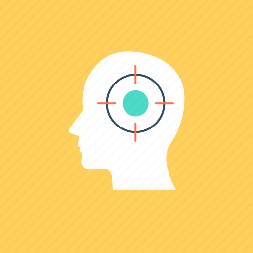 brainstorming, concentration, mental focus, mind focus, mind power icon