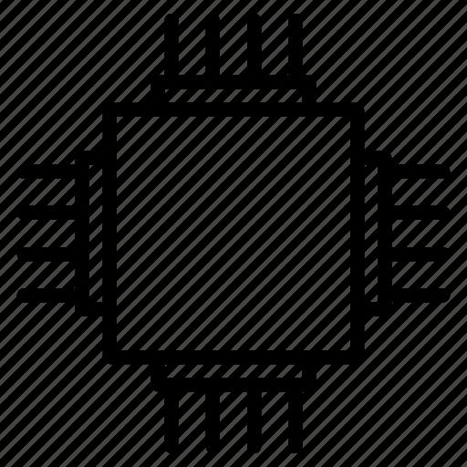 circuit, electronics, microprocessor, processor, technology icon