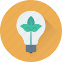 botany, bulb, experiment, idea, leaf icon