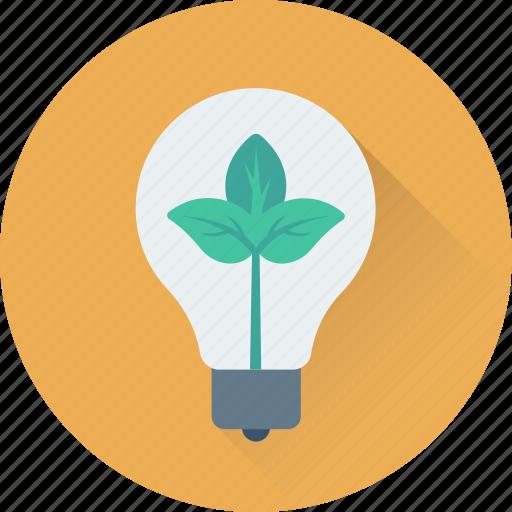botany, bulb, experiment, idea, leaf icon