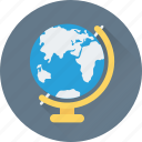 education, globe, map, table globe, world map icon