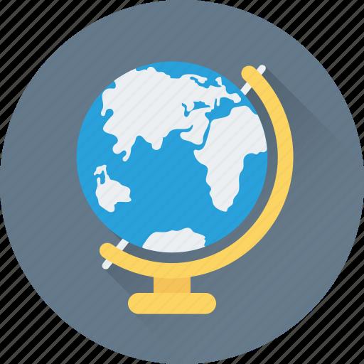 education, globe, map, table globe, world map icon