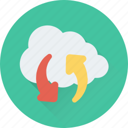 cloud, icloud, nature, processing, synchronization icon