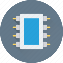 chip, electronic, ic, integrated circuit, microchip icon