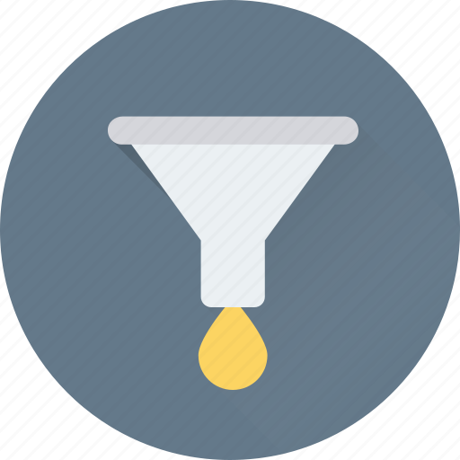 filter, filtering, funnel, pipe, pouring icon