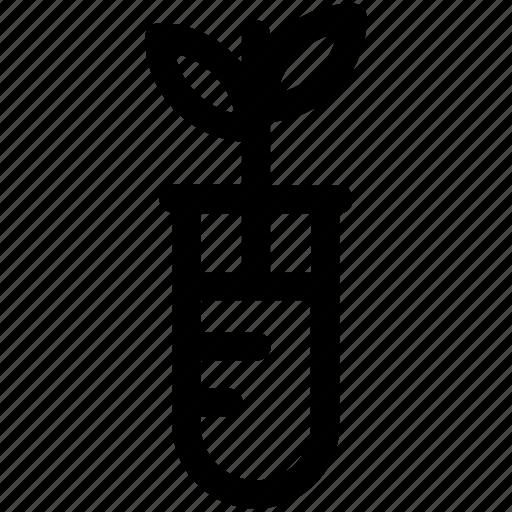 botany experiment, bottle, lab experiment, lab jar, plant in jar icon