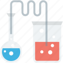 flask, lab equipment, conical flask, lab experiment, lab research icon