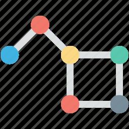 atom, electron, molecular bond, molecule, science icon