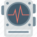 ecg, machine, tool, ecg machine, waves icon