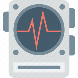 ecg, ecg machine, machine, tool, waves icon
