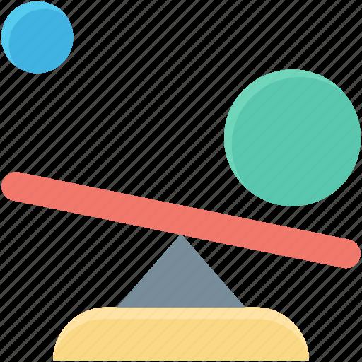 balance swing, lever, seesaw, teeter totter, teeterboard icon