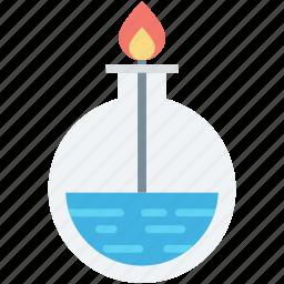 lab burner, lab equipment, research, science, spirit lamp icon