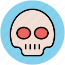 danger, danger warning, dead, hazard, skull, toxic icon