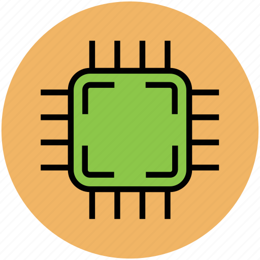 central processing unit, chip, computer chip, integrated circuit, microchip, motherboard icon