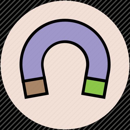 attraction, horseshoe magnet, magnet, physics, power symbol, u-shaped icon