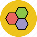 geometric pattern, hexagon shape, hexagonal pattern, hexagons, honeycomb pattern icon