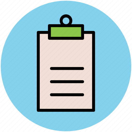 agenda, clipboard, document, list, reminder, report icon