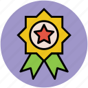 achievement, award badge, award ribbon, emblem, success icon