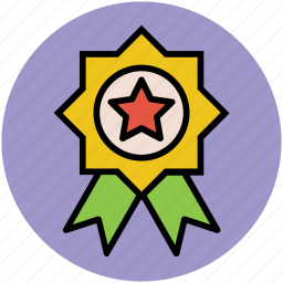 achievement, award badge, award ribbon, emblem, success icon