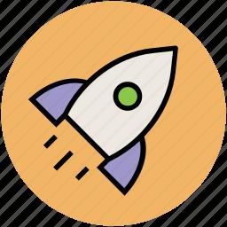 exploration, missile, rocket, science, space travel, spacecraft, spaceship icon