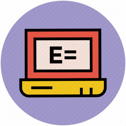 e-learning, explorer sign, exploring, laptop, laptop screen, pc icon