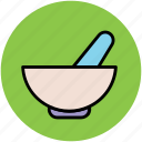 ayurveda, herbal medicine, medicine bowl, medicine symbol, mortar, pestle, pharmacy icon