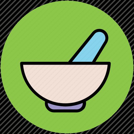 ayurveda, herbal medicine, medicine bowl, medicine symbol, mortar, pestle, pharmacy icon