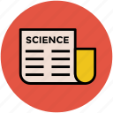 informations, news, news blog, print media, science magazine icon