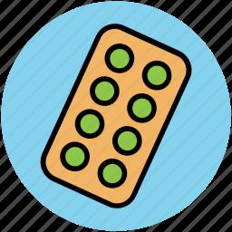 drugs, medical pills, medications, medicines, pills, tablets, vitamins icon