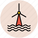 climate, environment, generator, turbine, wind power, wind turbine, windmill icon