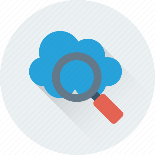 cloud computing, computing, find, magcloud, magnifier icon