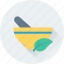 herbal, medicine, mortar pestle, pharmacist, tools icon