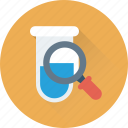chemistry, find, flask, lab, research icon