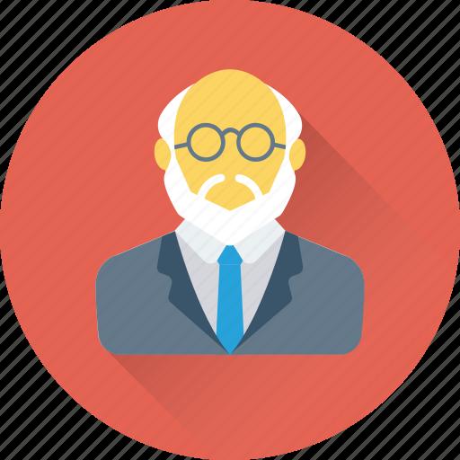avatar, professor, researcher, scientist, teacher icon