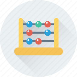 abacus, calculating, calculation, counting, education icon