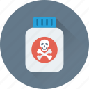 bottle, chemical, danger, poison, toxic icon