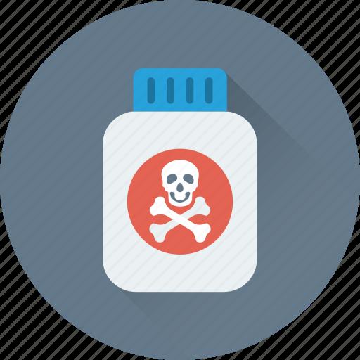 bottle, chemical, danger, poison, toxic icon