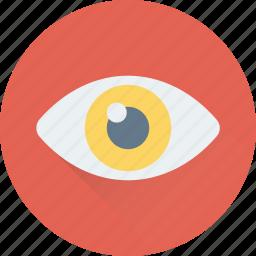 eye, look, observe, see, visual icon