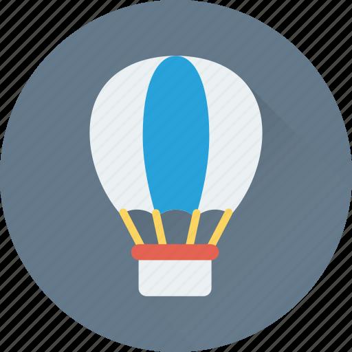air balloon, hot air balloon, parachute balloon, skydiving, travel icon