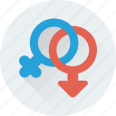 female, gender, genders, sex, symbol icon