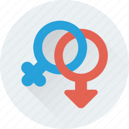 female, gender, genders, sex, symbol icon