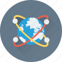 globe, orbit, planet, world map icon