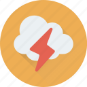 cloud, forecast, sky, thunder, weather icon
