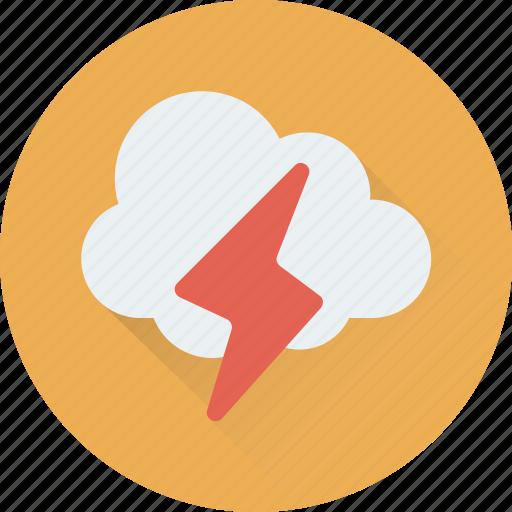 cloud, forecast, sky, thunder, weather icon
